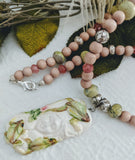 Artisan Gemstone Crystal Bone Necklace