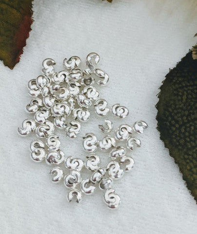 Sterling Silver 4mm Crimp Covers