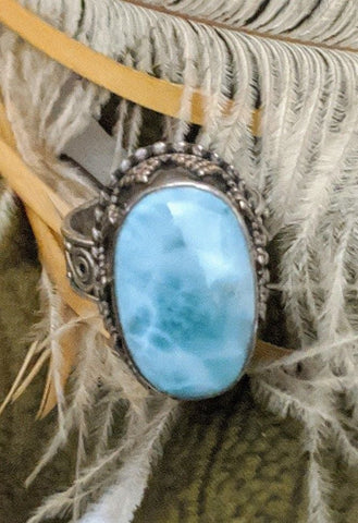 Artisan Crafted Sterling Silver Larimar Ring