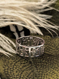 Asian Symbol Sterling Silver Band Ring