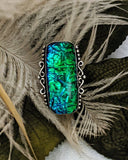 Artisan Sterling Dichroic Glass Ring