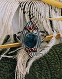 Artisan Crafted Sterling Silver Copper Raw Apatite Ring