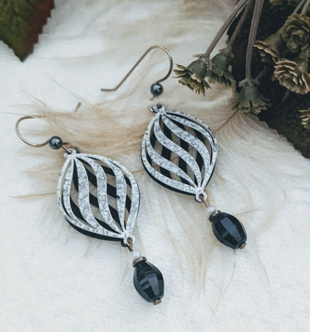 Artisan Crafted Sterling Silver Hematite Earrings