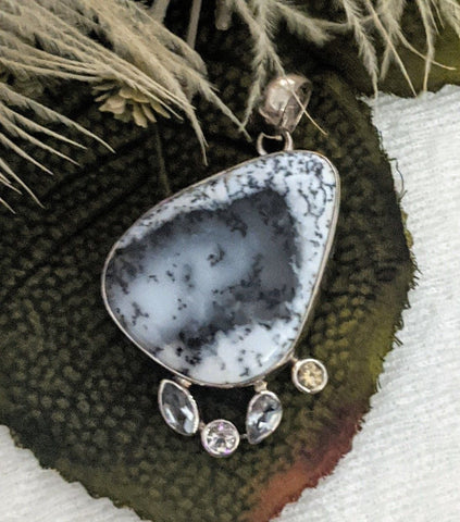 Artisan Crafted Sterling Silver Dendritic Opal Pendant
