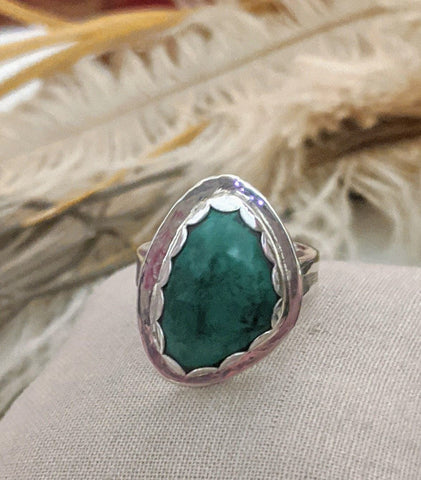 Artisan Sterling Silver Malachite Ring