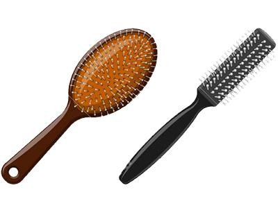 Some different kind of brushes you can use for your hairtype.