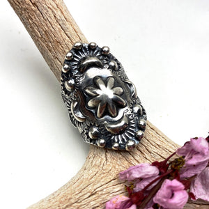 Sterling Silver Repousse Ring - Meltdown Studio Jewelry