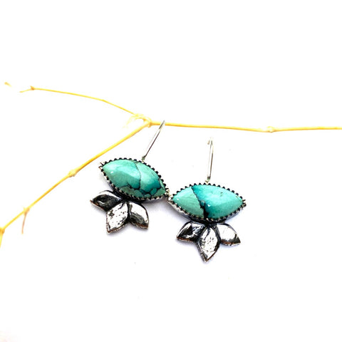 Turquoise Agave Earrings