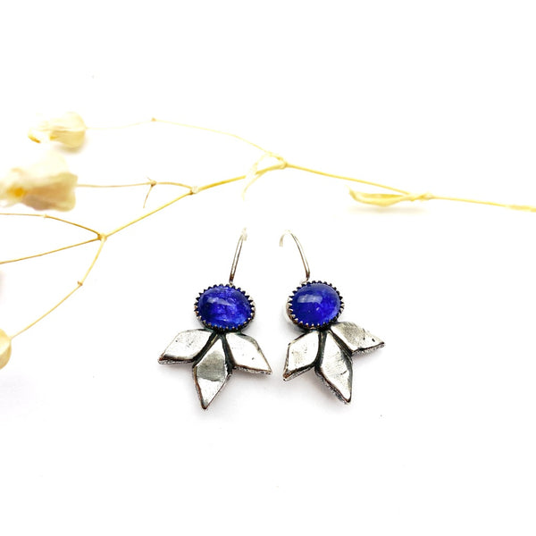 Tanzanite Bloom Earrings - Meltdown Studio Jewelry