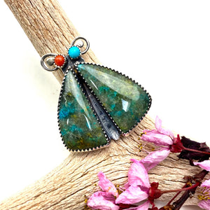 Chrysocolla Bug Ring - Meltdown Studio Jewelry