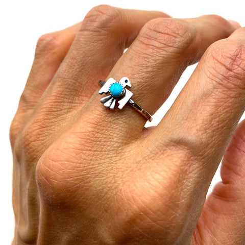 Tiny Thunderbird Ring - Meltdown Studio Jewelry