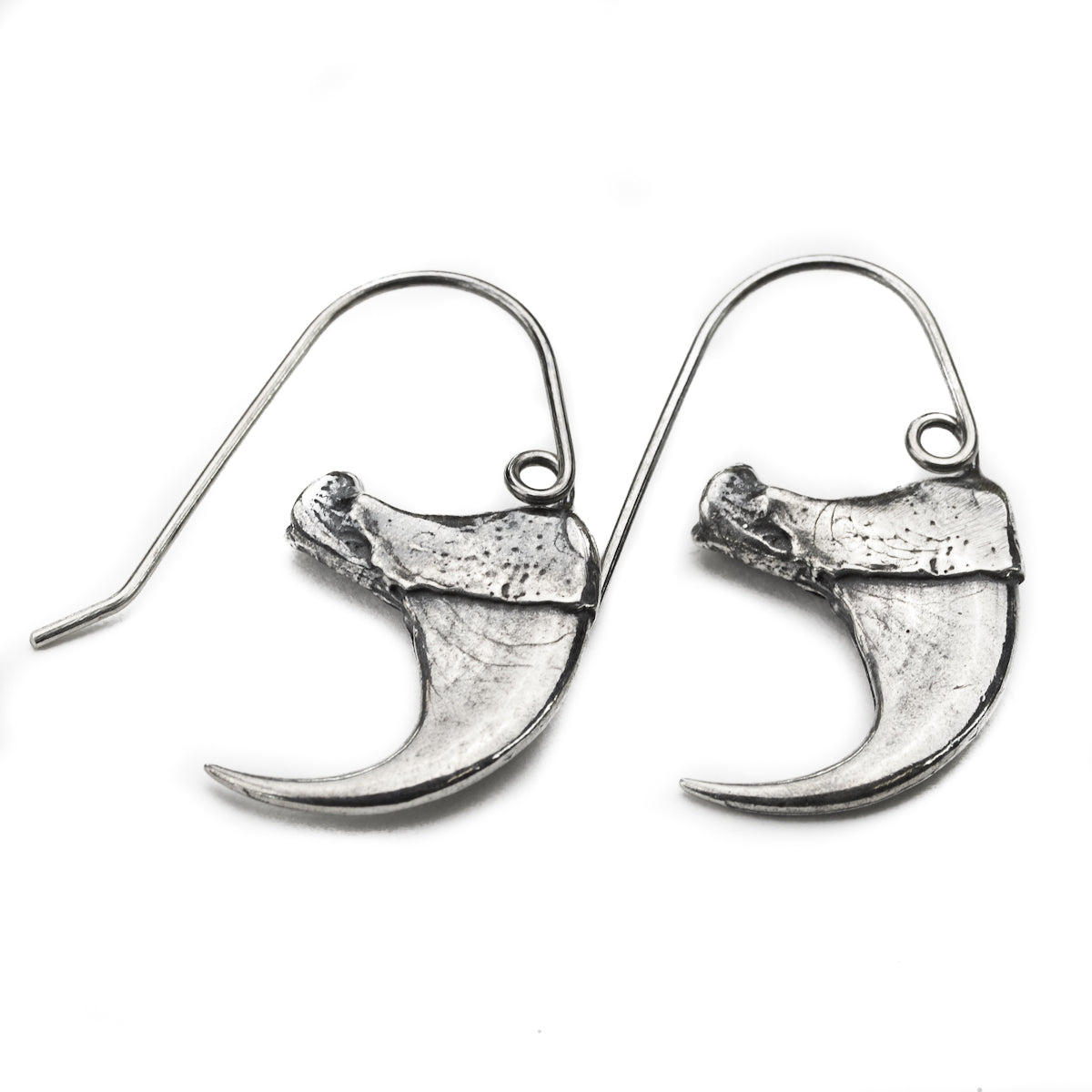 Bobcat Claw Sterling Silver Earrings