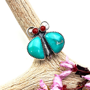 Turquoise Bug Ring - Meltdown Studio Jewelry