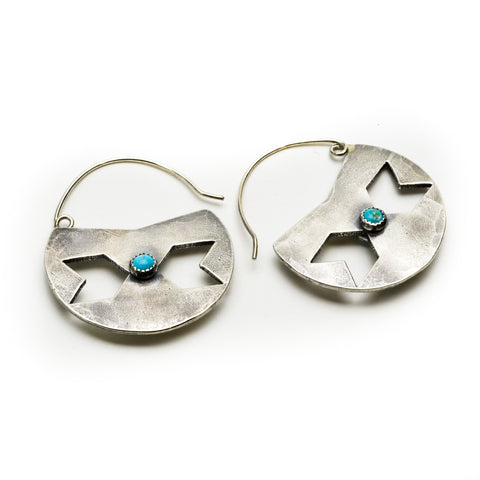 Double Centaury Shield Earrings - Meltdown Studio Jewelry
