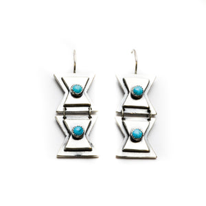 Double Butterfly Earrings - Meltdown Studio Jewelry