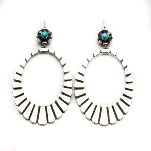 Santa Fe Hoops Sterling Silver Earrings