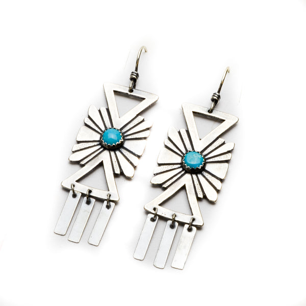 Turquoise Estrella Sterling Silver Earrings