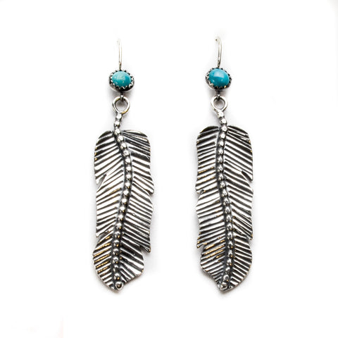 Feather Sterling Silver Earrings