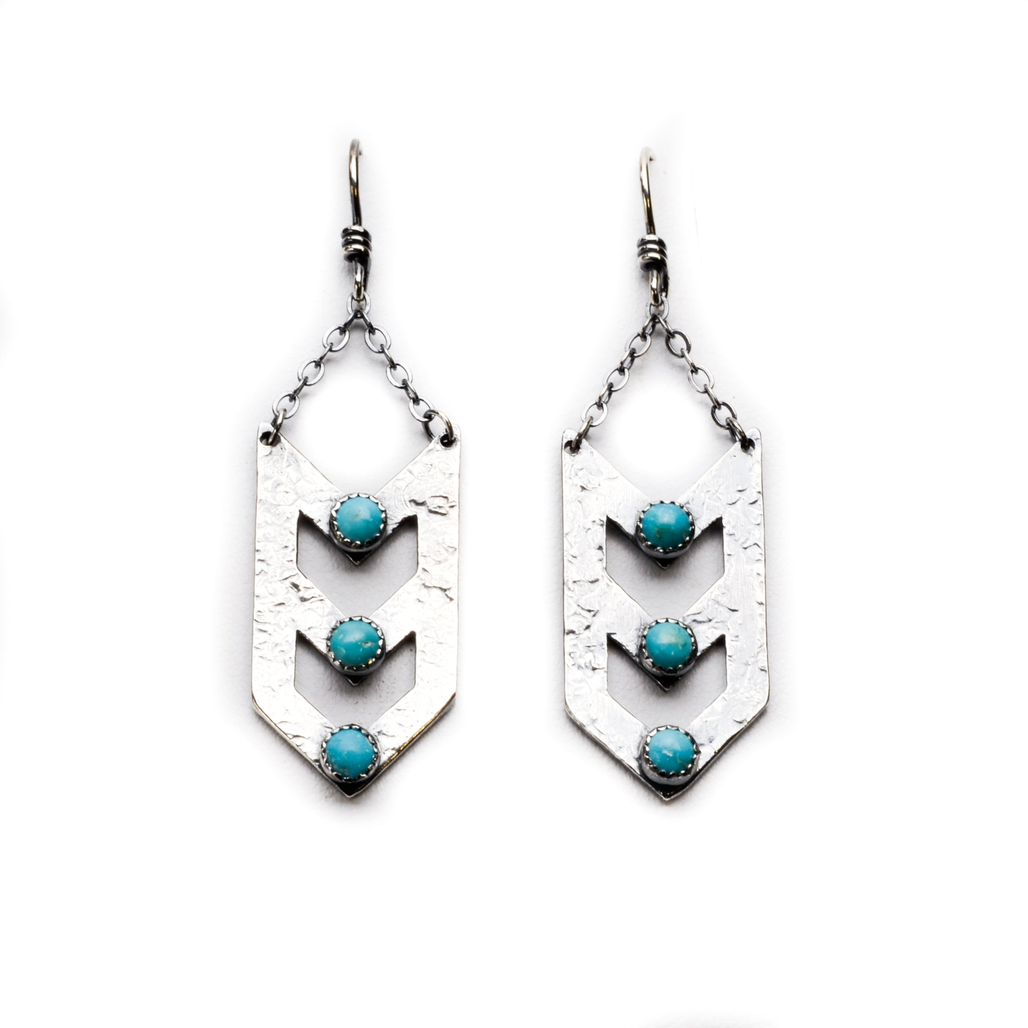 Double Arrow Earrings - Meltdown Studio Jewelry