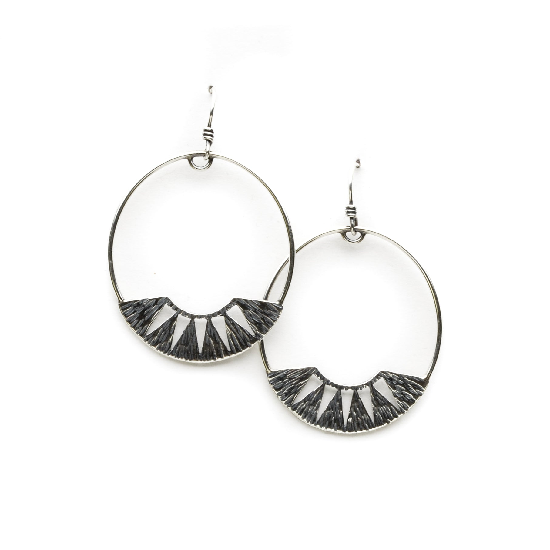 Juniper Hoop Earrings - Meltdown Studio Jewelry