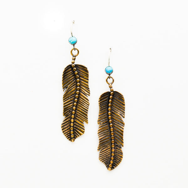Feather Earrings - Meltdown Studio Jewelry