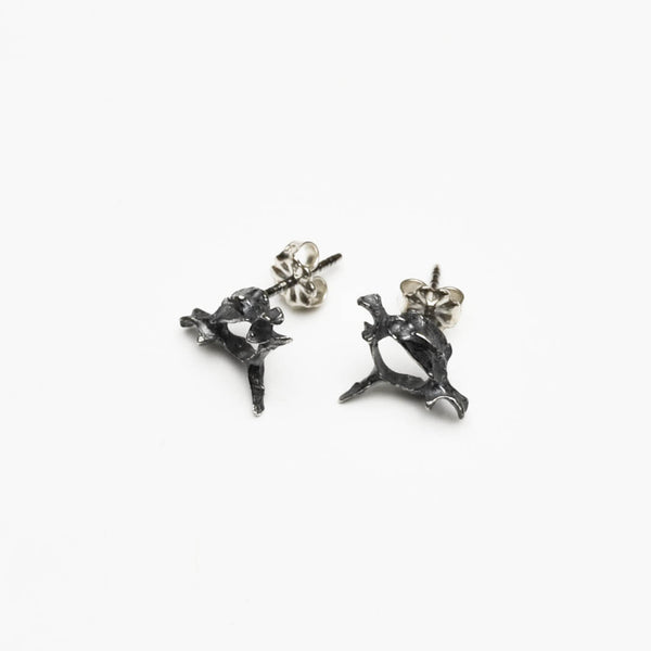 Vertebrae Stud Earrings - Meltdown Studio Jewelry