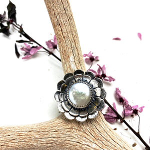 Pearl Blossom Ring - Sterling Silver