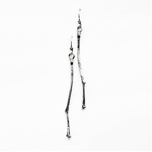 Petite Twig Sterling Silver Earrings