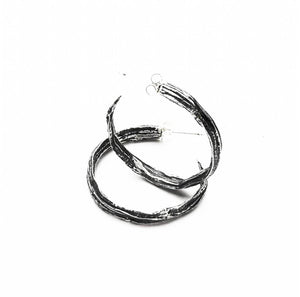 Pod Hoops Sterling Silver Earrings