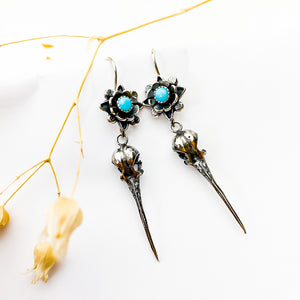 Turquoise Hummingbird Earrings