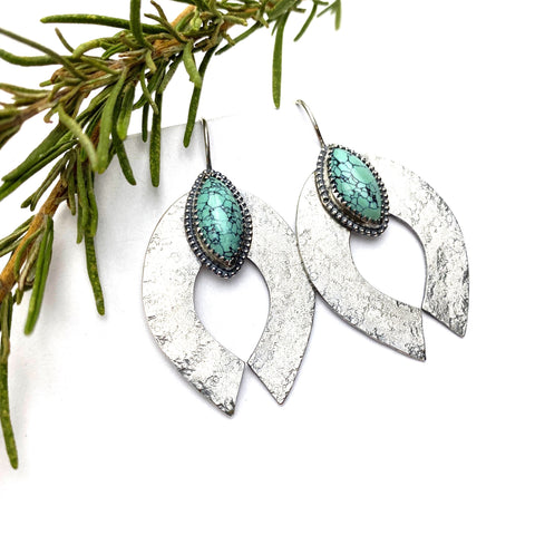 Turquoise Naja Earrings