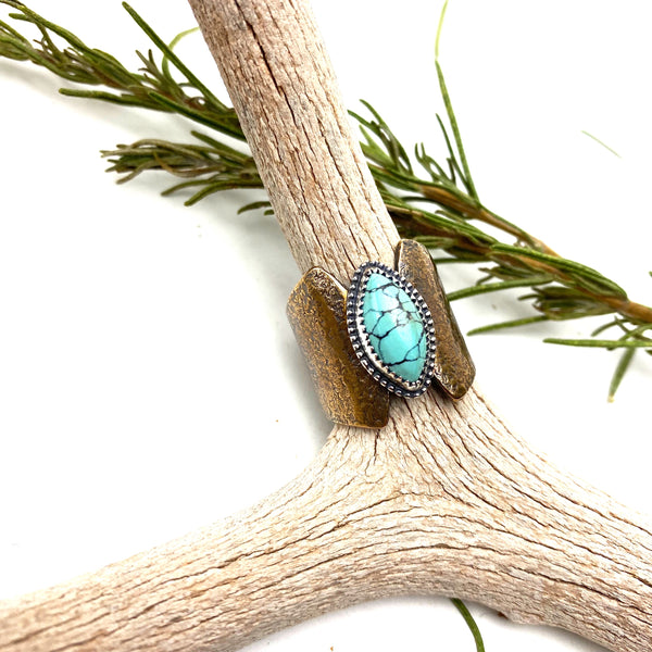 Bronze Turquoise Ring