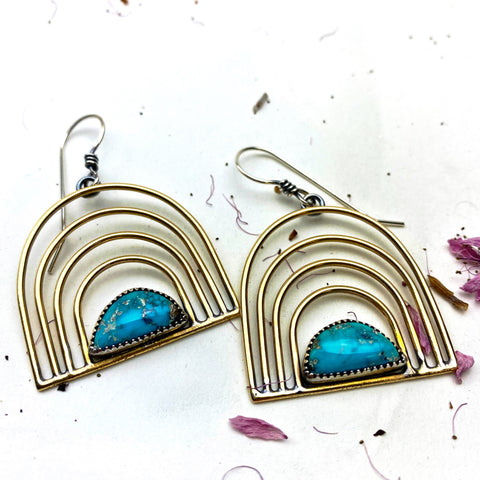 Desert Rainbow Turquoise Earrings