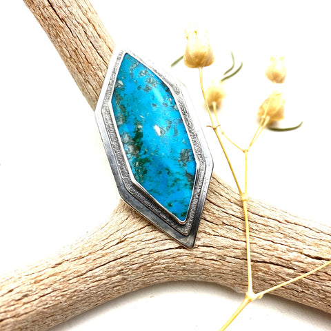 Turquoise Point Statement Ring