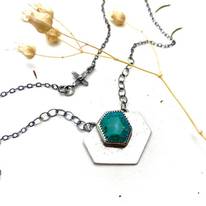Turquoise Shield Necklace
