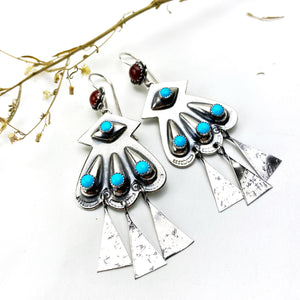 Turquoise Concho Earrings - Meltdown Studio Jewelry