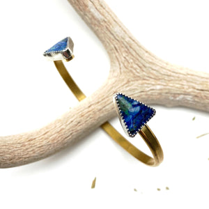 Double Lapis Cuff Bracelet - Meltdown Studio Jewelry
