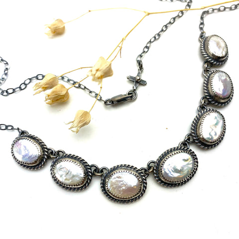 Linked Freshwater Pearl Necklace
