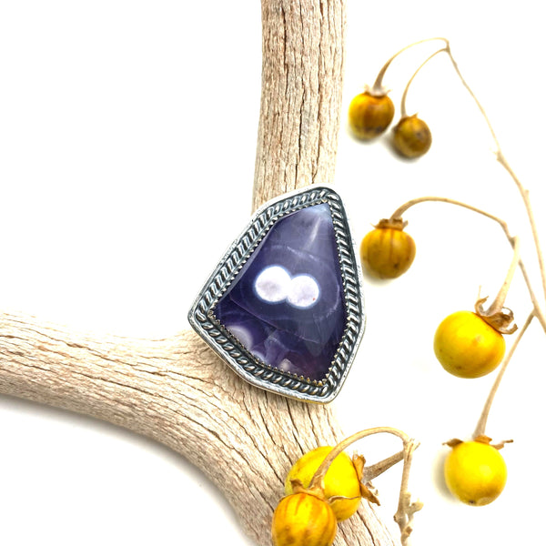 Amethyst Agate Statement Ring