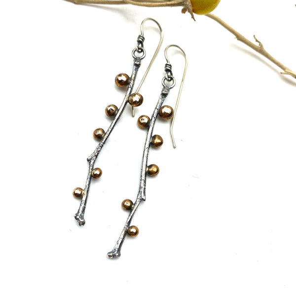 Early Spring Twig Earrings