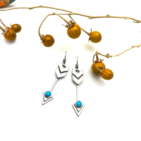 Turquoise Arrow Earrings