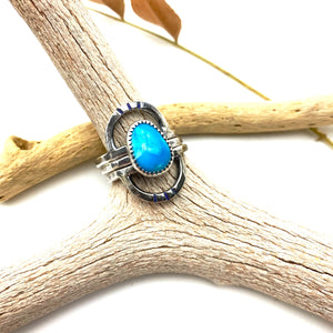 Double Rainbow Turquoise Stack Ring Set
