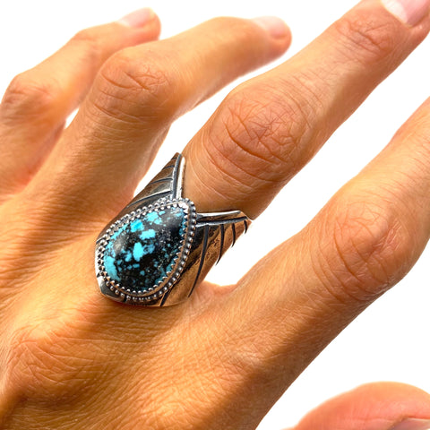 Turquoise Winged Warrior Ring