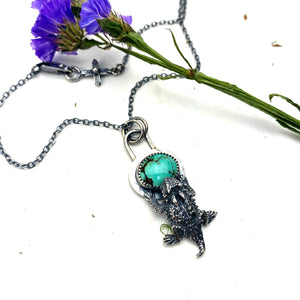 Turquoise Horned Toad Necklace