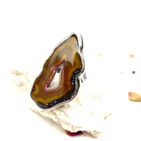 Agate Druzy Statement Ring