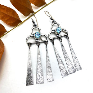Apatite Rain Cloud Earrings