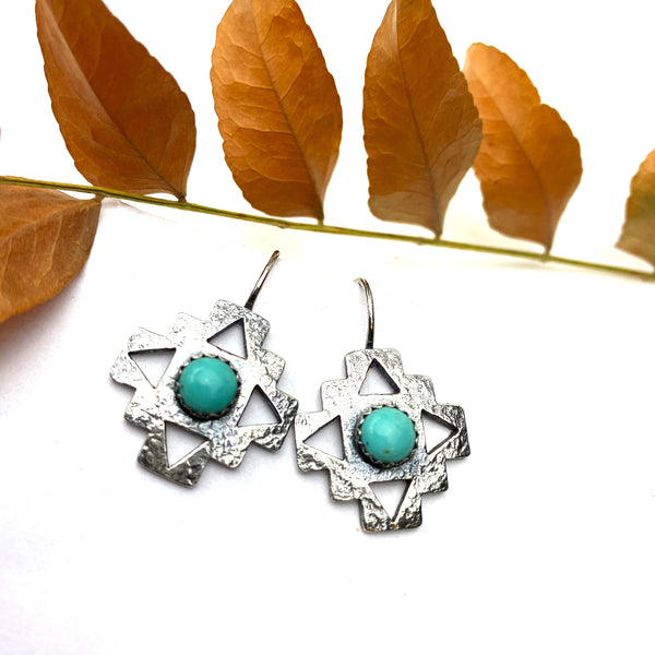 Turquoise Cruz Earrings
