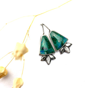 Chrysocolla Bloom Earrings