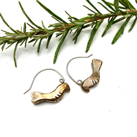 Bronze Songbird Earrings