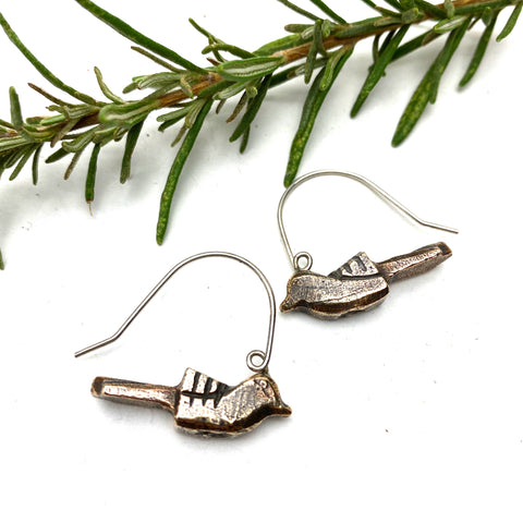 Bronze Blackbird Earrings